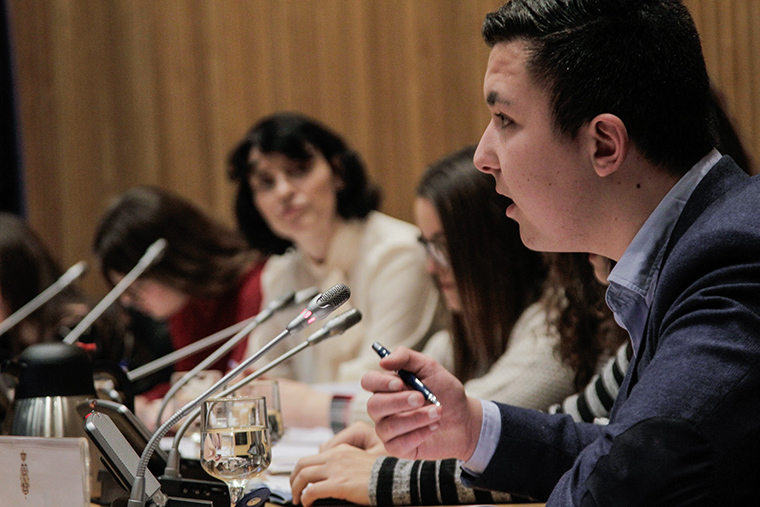 January 2017- Eight adolescents, representing the 200 attendees at the 4th National Child Participation Conference in the city of Santander in 2016 report on the conclusions of the conference to the Commission of Children and Adolescents of the Spanish Parliament. The conclusions are part of the Santander Declaration.