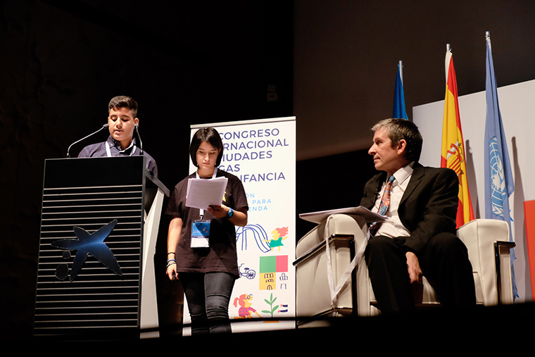 September 2017- Zacaria Benataya (Child Participation Council Member), Edita Pousada (Child Participation Council Member) and Harry Shier (International Child participation Expert) speak at the IV International CFCI Conference organized by the Spanish CFCI.