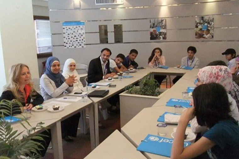 CMC of Amman members meeting with the UNICEF team