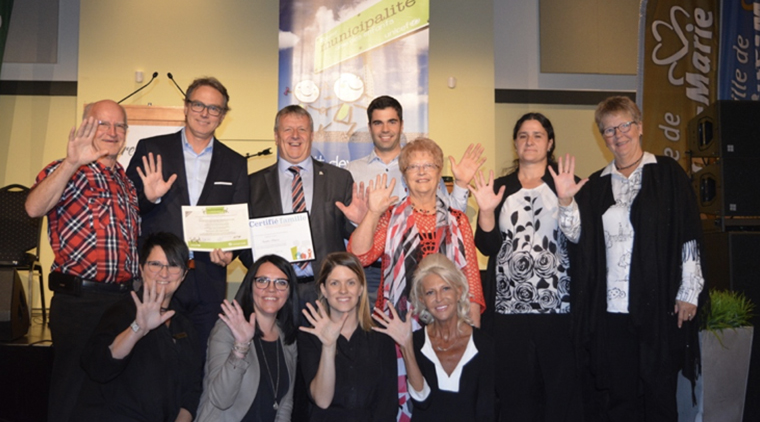 City of Sainte-Marie receives MAE recognition.