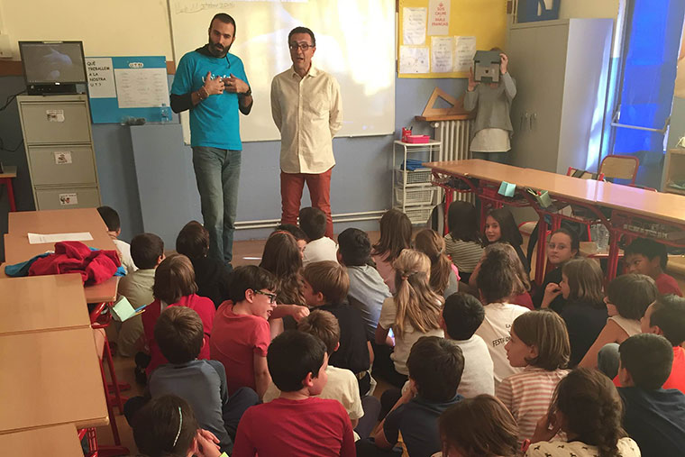 Workshop in schools in Sant Julià about child participation